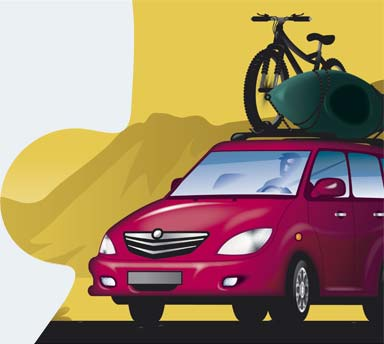 Rent a car, kayak & a bicicle
